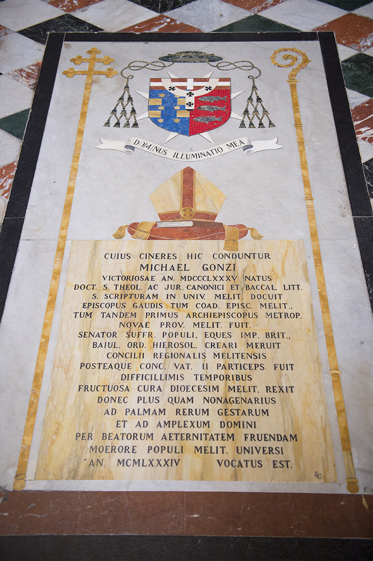 Archibishop Gonzi Tombstone