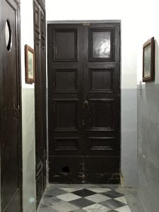 Cathedral door hole